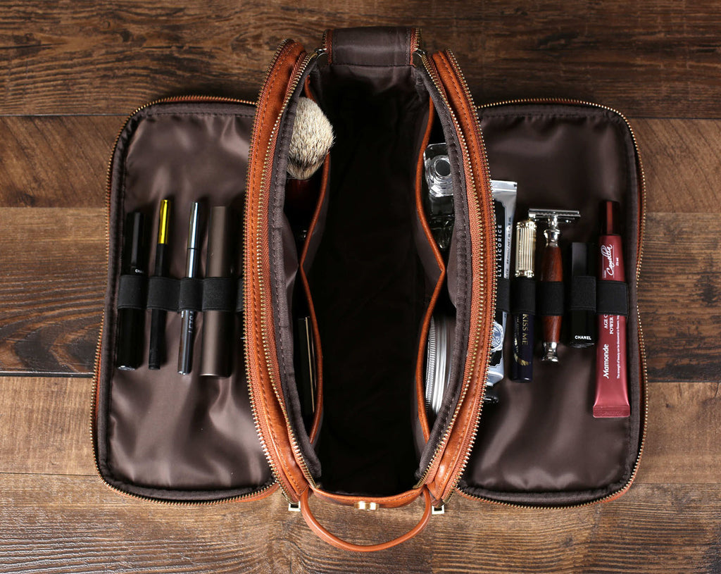 Groomsmen Gift Toiletry Bag for Men, Travel Shaving Dopp Kit Bag