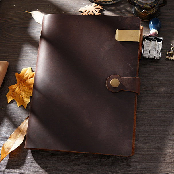Leather Journal Refillable Notebook Cover A5 Size Personalized Leather Travel Journal Leather Diary Birthday Gift Anniversary Gift Dad Gift
