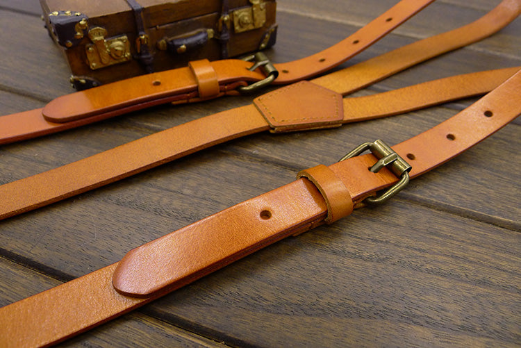 Wedding Suspenders Genuine Leather Suspenders Groomsmen Gifts