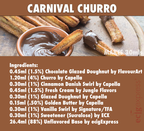 Carnival Churro E Liquid Recipe