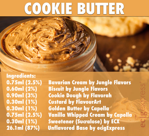 Cookie Butter E Liquid Recipe