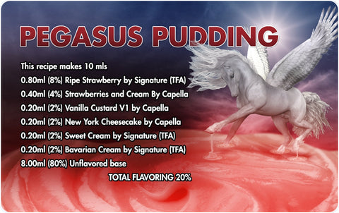 Pegasus Pudding E Liquid Recipe