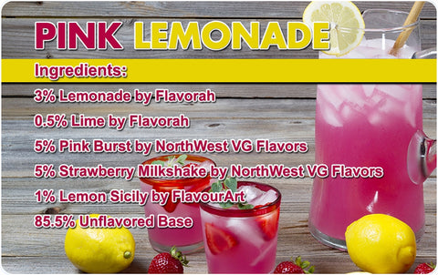 Pink Lemonade E Liquid Recipe