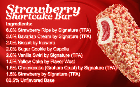 Strawberry Shortcake Bar E Liquid Recipe
