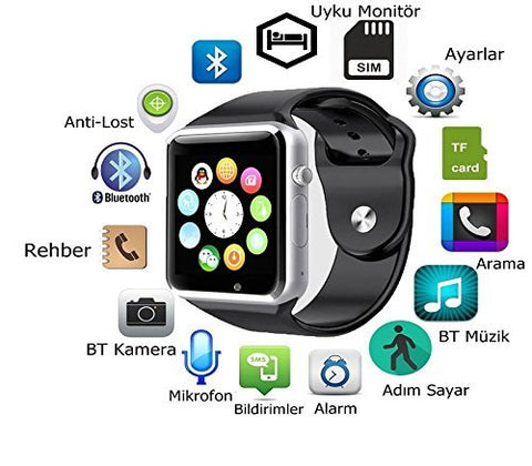 A1 WristWatch Bluetooth Smart Watch Sport  with SIM Camera  For Android Smartphone