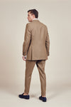 Brown Double Breasted Vintage Suit Flapped