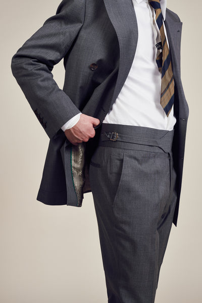 Dark Grey Vintage Patch Pocket Suit