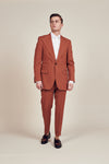 Orange 1 Button Suit
