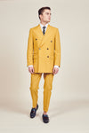 Yellow Vintage Double Breasted Suit