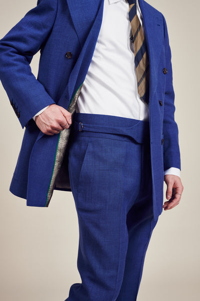 Vintage Blue Double Breasted Suit