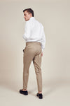 Stripe Beige Trousers