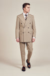 Stripe Beige Amaron Suits