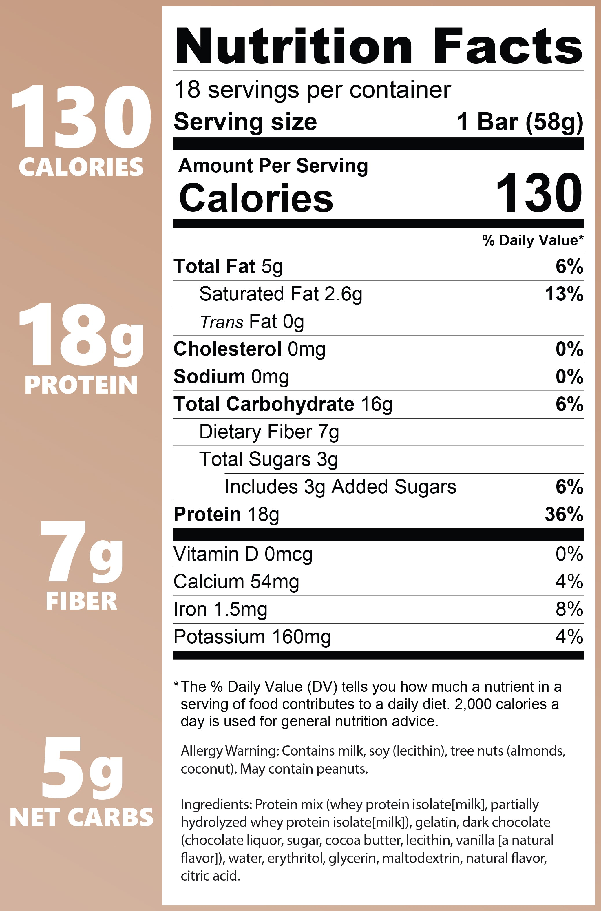 Coconut Almond Nutrition Facts