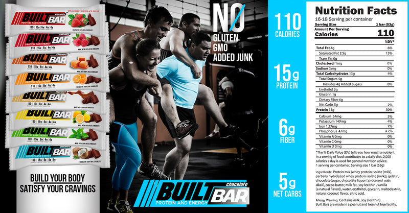 nutrition facts of builtbar protein bar