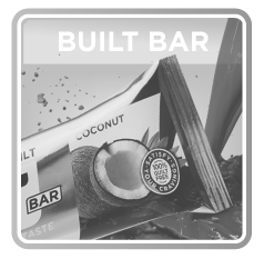 Built Bar Coconut black and white image
