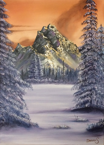 Sunkissed winters day A4 size artist proof