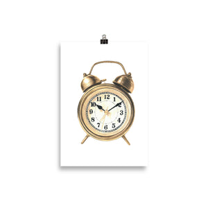 C is for Clock Poster