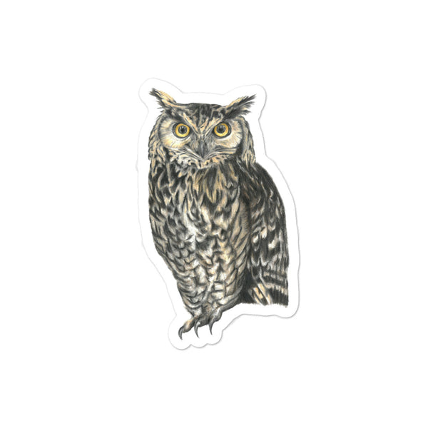 Owl illustration Bubble-free stickers