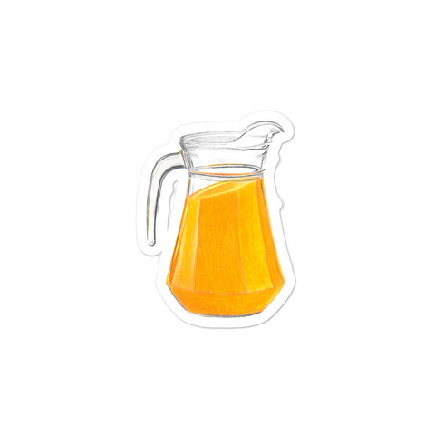 Jug of juice illustration Bubble-free stickers
