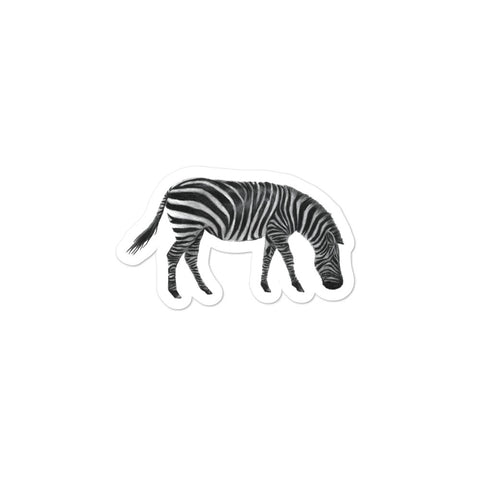 Zebra illustration Bubble-free stickers
