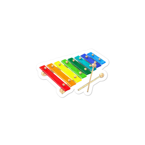 Xylophone illustration Bubble-free stickers