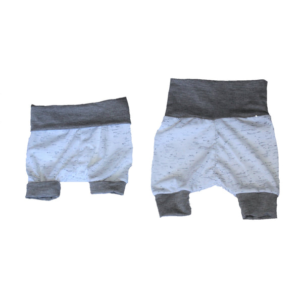 GROW WITH ME Shorties - Flecks, Grey and White