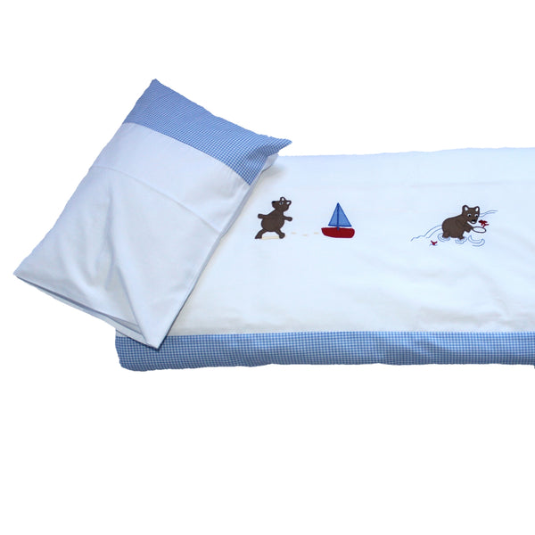 Cot Duvet Set - Seaside Teddy Bears