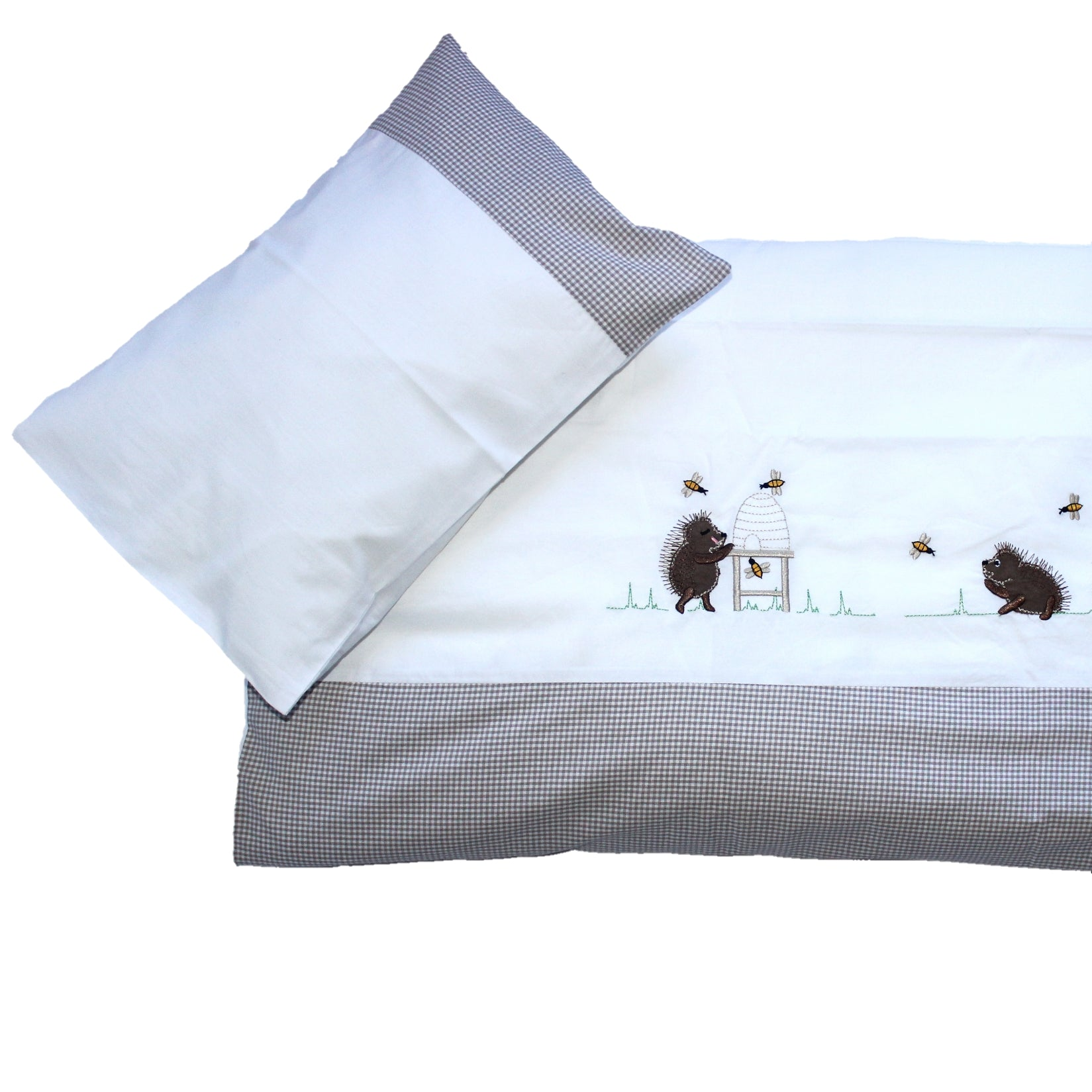 Cot Duvet Set - Happy Hedgehogs