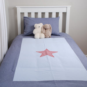 Single Bed Border Duvet Cover - Star (plus std pillow case)