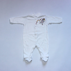Long Cotton Sleepsuit - Ballerina Mouse