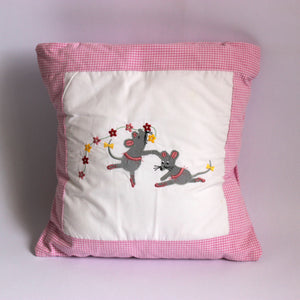 Ballerina Mouse Cushion - Pink