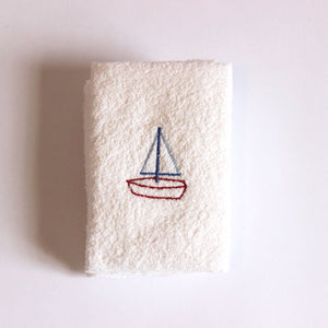 Face Cloth - Sailing Boat