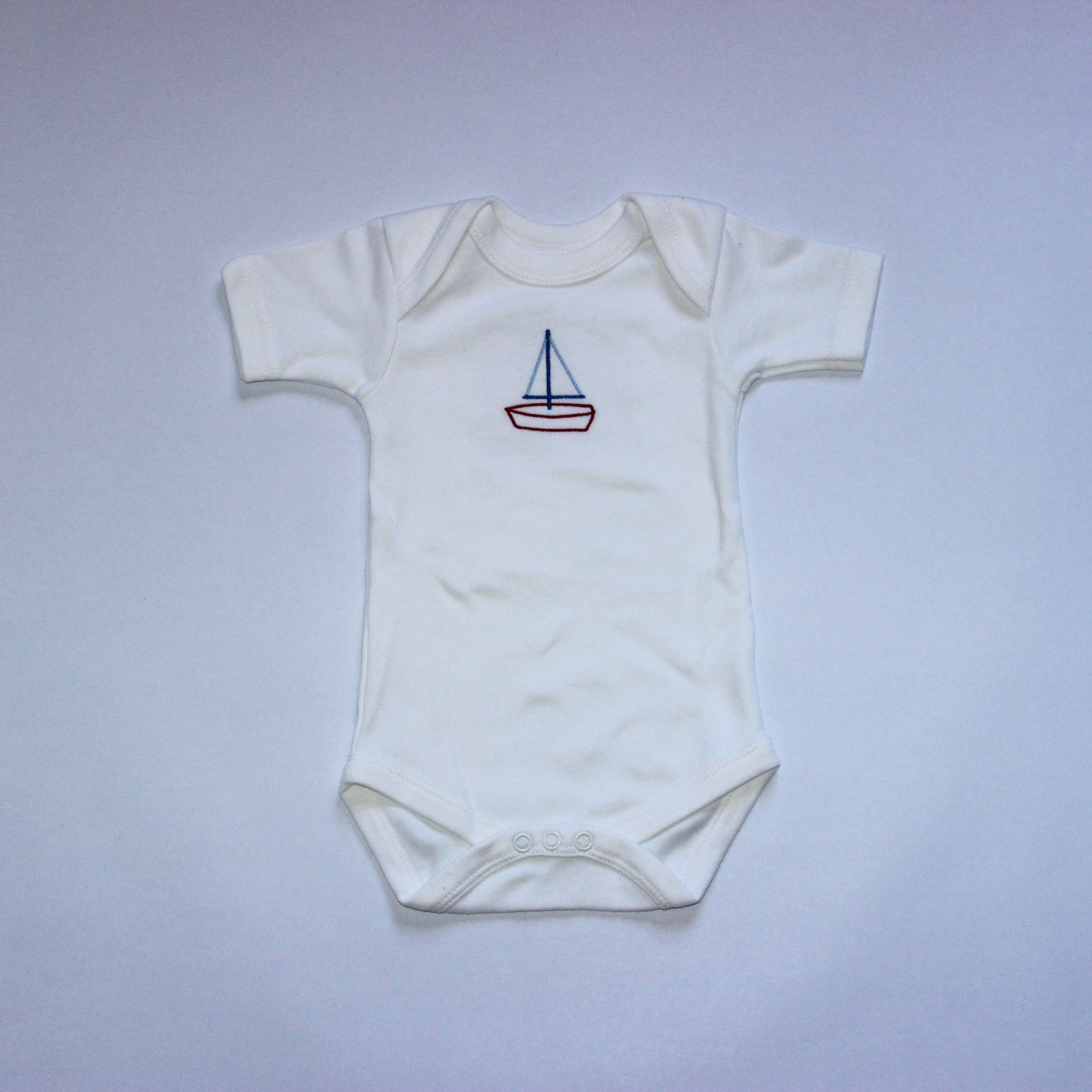 Cotton Baby Body Vests - Sailing Boat