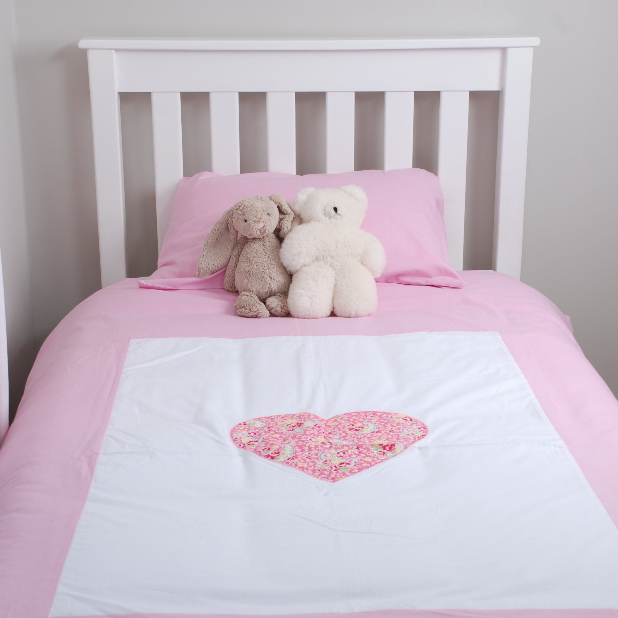 Single Bed Border Duvet Cover - Heart (plus standard pillow case)