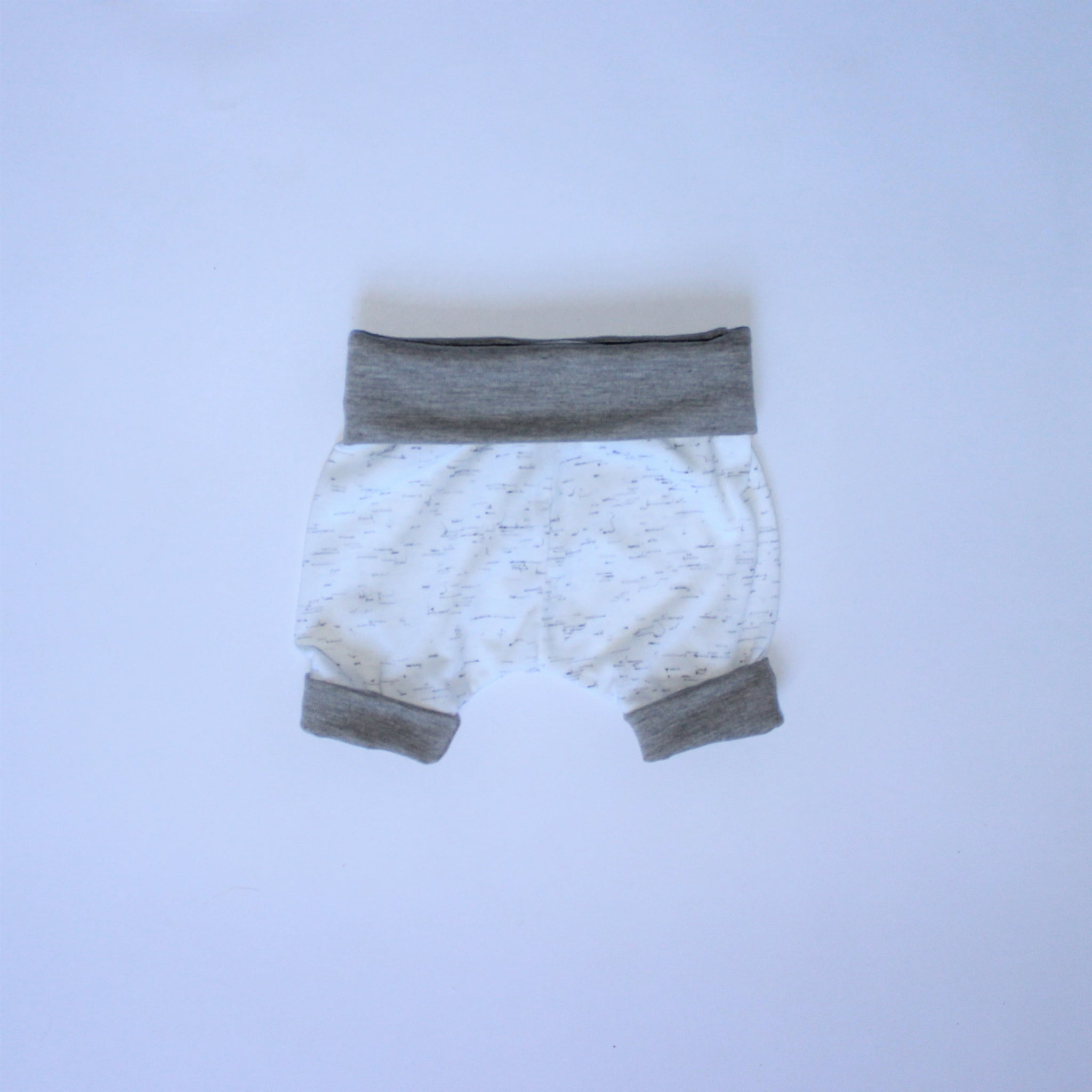 New Born Shorts - Flecks, Grey and White