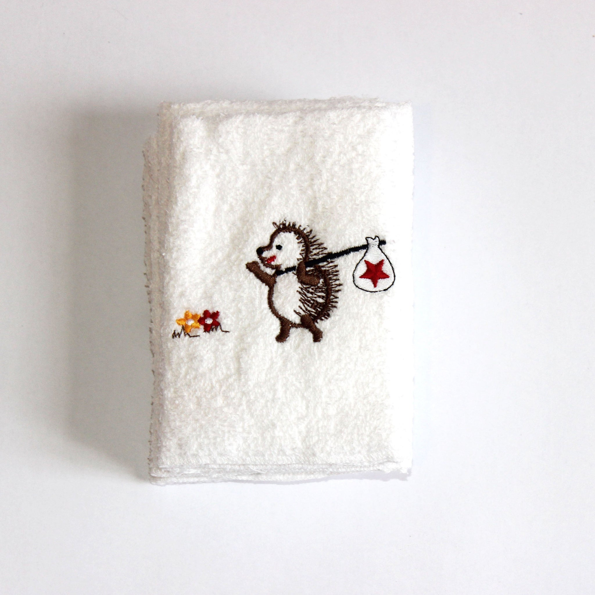 Face Cloth - Traveling Happy Hedgehog