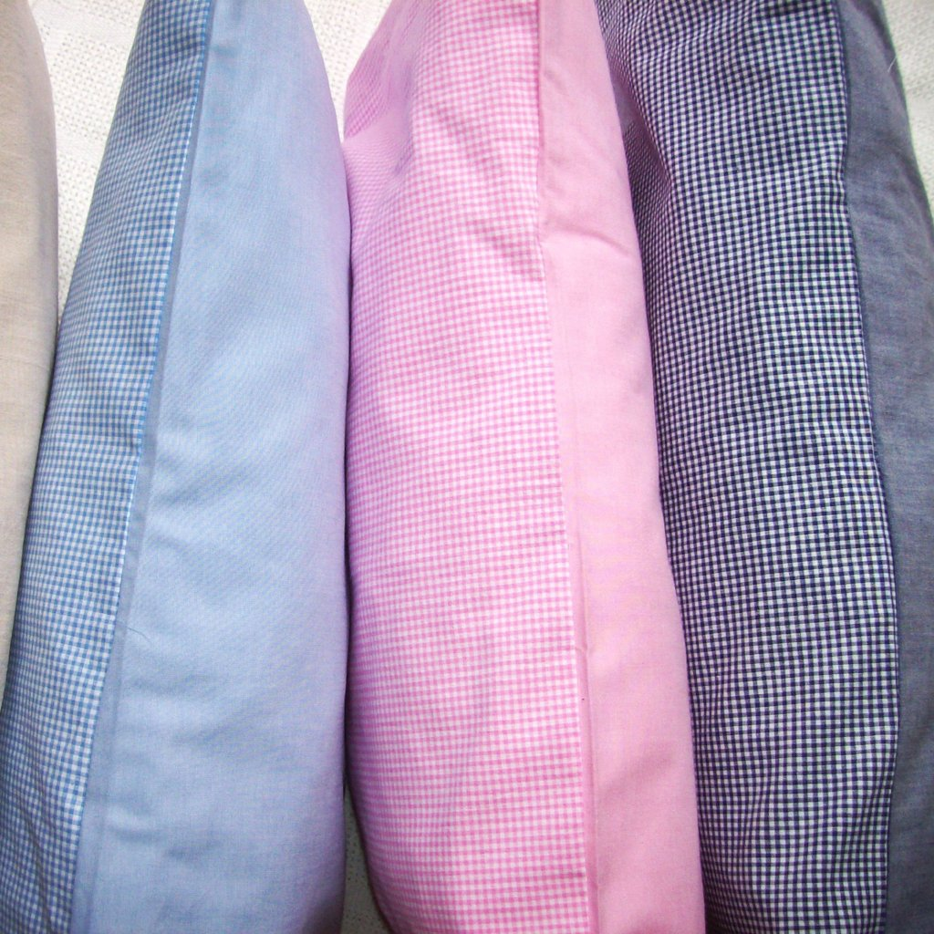 Toddler Pillow & Cover - Pink Gingham & Chambray