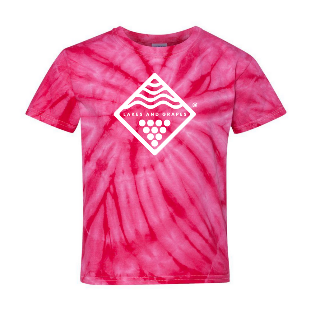 Youth Tie Dye Tee - Pink