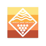 Sunset Wave & Vine Sticker