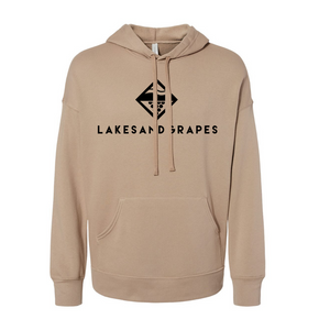 Lakes and Grapes Classic Tan Relaxed Hoodie
