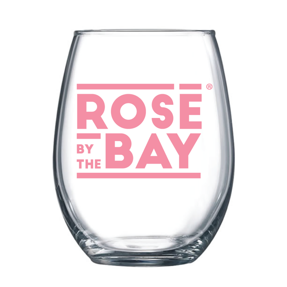 Rosé by the Bay Stemless Glass