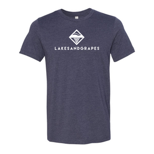 Lakes and Grapes Classic Navy Tee