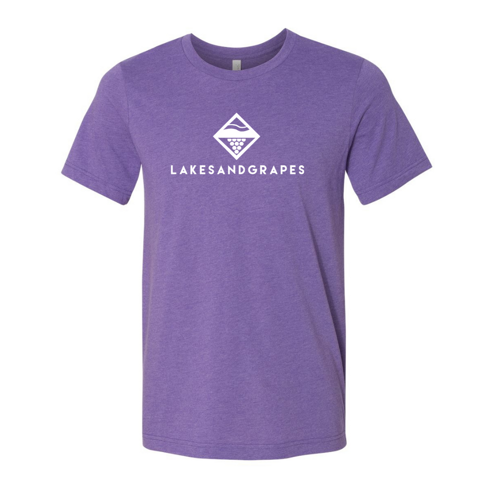 Lakes and Grapes Classic Purple Tee