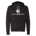 Lakes and Grapes Classic Black Hoodie
