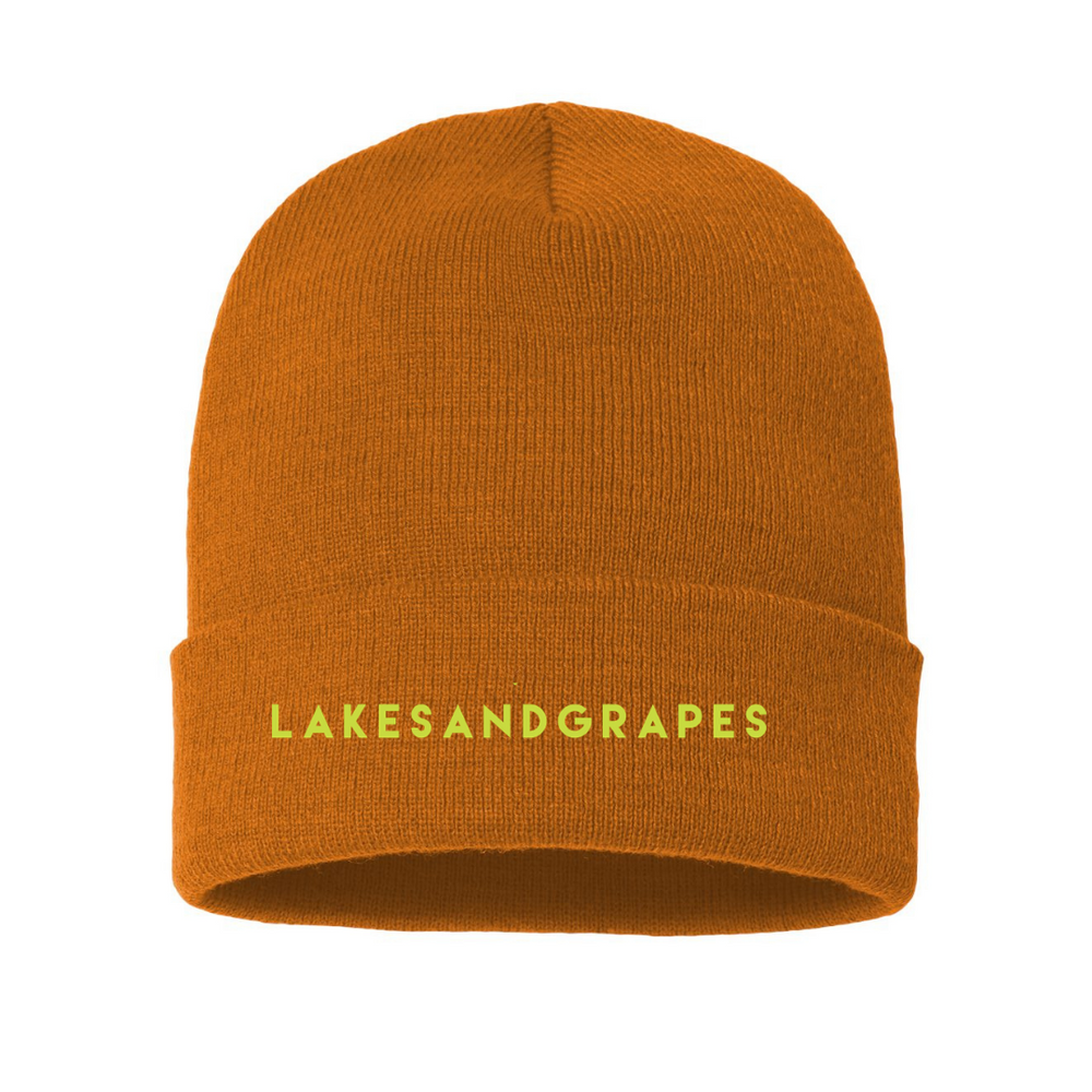 Load image into Gallery viewer, Classic Beanie - Caramel/Neon