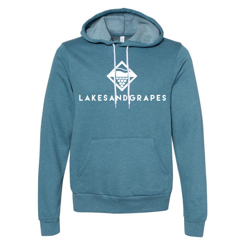 Lakes and Grapes Classic Teal Hoodie