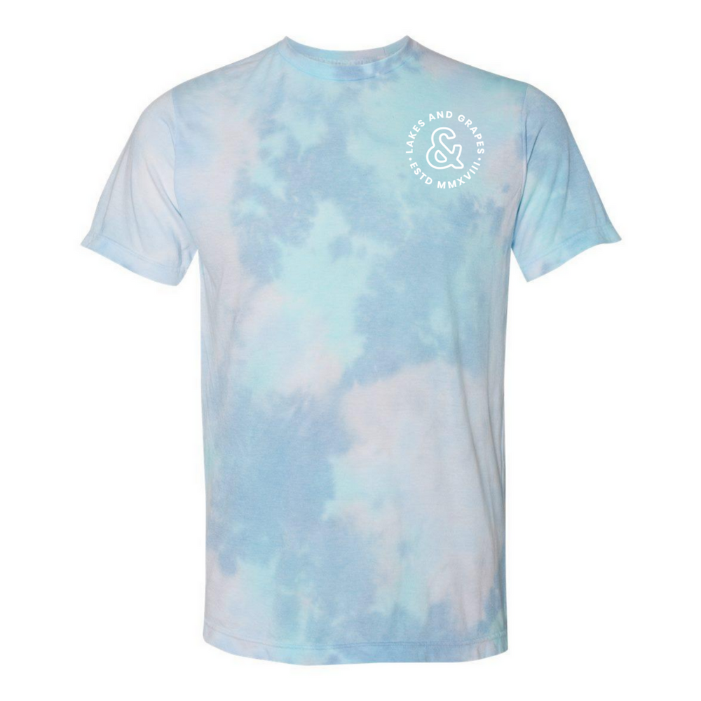 The Tie Dye Tee is Lake Life apparel by Lakes and Grapes perfect for summertime in Northern Michigan
