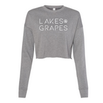 The Lakes and Grapes Swell Cropped Sweatshirt is lightweight and a comfortable fit perfect for your all day adventures