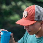 Active Quick Dry Hat - Orange/Khaki