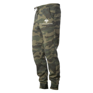 Be comfortable on your next adventure in Michigan while wearing the Lakes and Grapes Unisex Camo Joggers